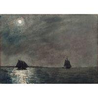 Eastern Point Light,Winslow Homer,24.4x34cm