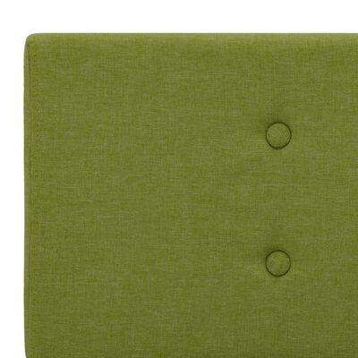 vidaXL Sängram grön tyg 180x200 cm