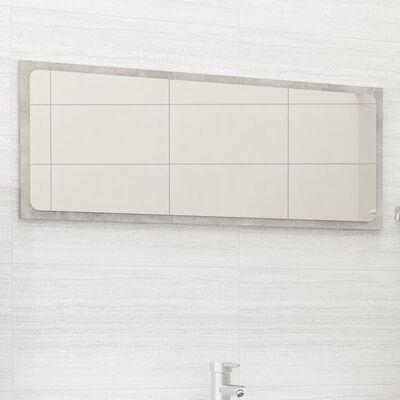 vidaXL Badrumsspegel betonggrå 90x1,5x37 cm spånskiva