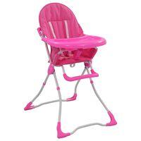 vidaXL Barnstol rosa och vit
