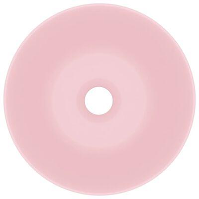 vidaXL Handfat keramik matt rosa rund