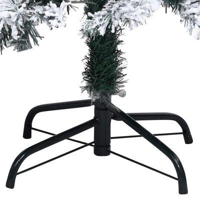 vidaXL Pplastgran med snö grön 240 cm PVC