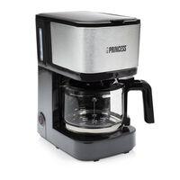 Princess Kaffebryggare med filter Compact 8 600 W 0,75 L svart/silver