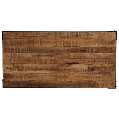 vidaXL Matbord massivt grovt mangoträ och stål 120 cm