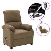 vidaXL Elektrisk massagefåtölj taupe tyg