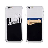 2x Silikonsocka plånbokskort med kontrastficka svart