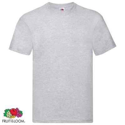Fruit of the Loom Original t-shirt 10-pack grå stl. 3XL bomull