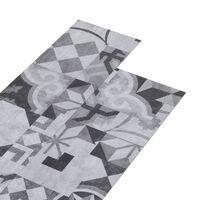 vidaXL PVC-golvbrädor 5,02 m² självhäftande 2 mm grått mönster