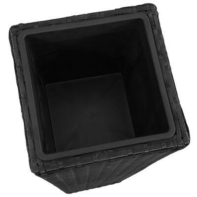vidaXL Blomkrukor upphöjda 3 st konstrotting svart