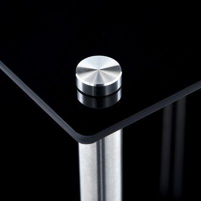 vidaXL Hylla 2 hyllplan svart 40x40x47 cm härdat glas