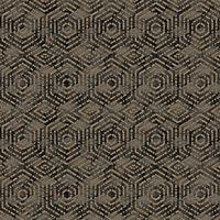 DUTCH WALLCOVERINGS Tapet geometrisk brun och svart