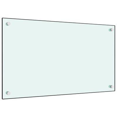 vidaXL Stänkskydd vit 70x40 cm härdat glas