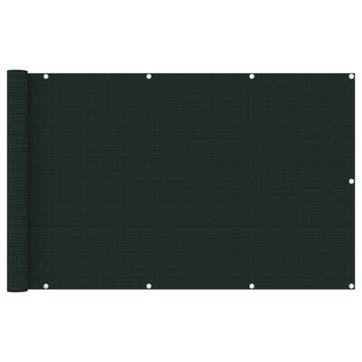 vidaXL Balkongskärm mörkgrön 120x600 cm HDPE