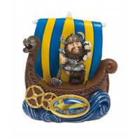 Magnet Souvenir Vikingskepp Viking med dryckeshorn