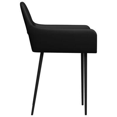 vidaXL Matstolar 6 st svart konstläder