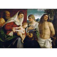 The Sacred Family with Holy,Sebastiano del Piombo,60x40cm