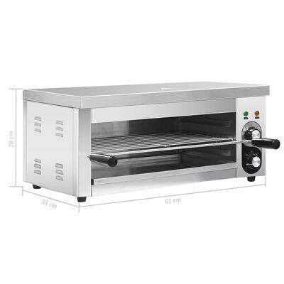 vidaXL Elektrisk salamander gastronorm 2500 W rostfritt stål