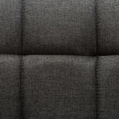 vidaXL Snurrbara matstolar 2 st mörkgrå tyg