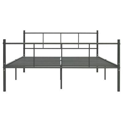 vidaXL Sängram grå metall 140x200 cm, Grå