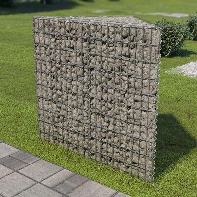 vidaXL Planteringsgabion upphöjd galvaniserat stål 75x75x100 cm