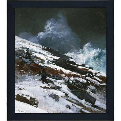 Med ram Winter Coast,Winslow Homer,61x51cm