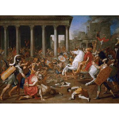 Destruction of the temple of Ferusalem,Nicolas Poussin,50x37cm