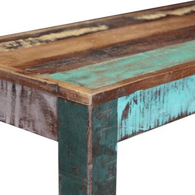 vidaXL Bänk i massivt återvunnet trä 110x35x45 cm