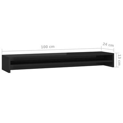 vidaXL Skärmställ svart högglans 100x24x13 cm spånskiva