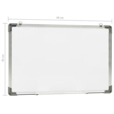 vidaXL Magnetisk whiteboard vit 50x35 cm stål