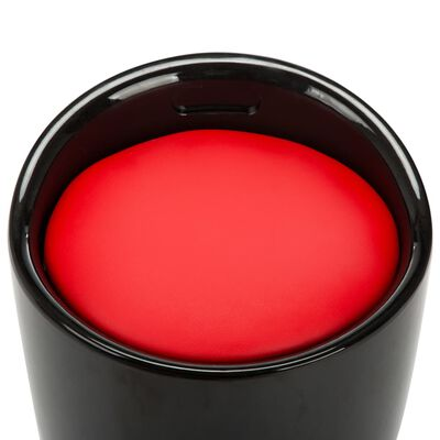vidaXL Förvaringspall svart och röd konstläder