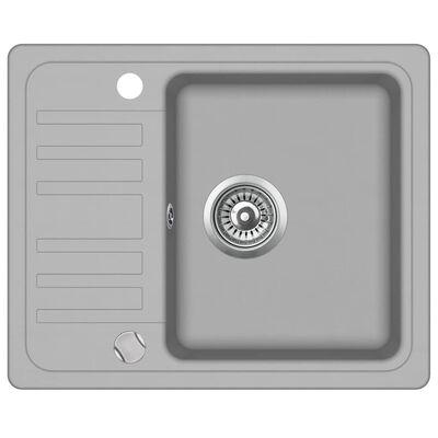 vidaXL Diskho granit enkel grå