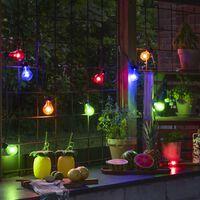 KONSTSMIDE Ljusslinga med 10 lampor flerfärgad