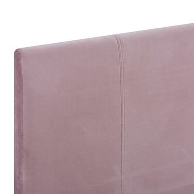 vidaXL Sängram rosa tyg 120x200 cm