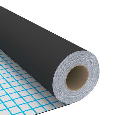 vidaXL Dekorplast svart 500x90 cm PVC