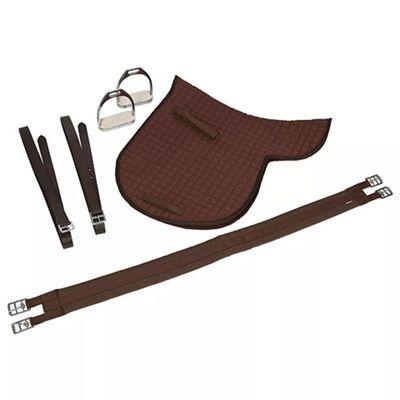 Kerbl Haflinger sadel brun läder 32198