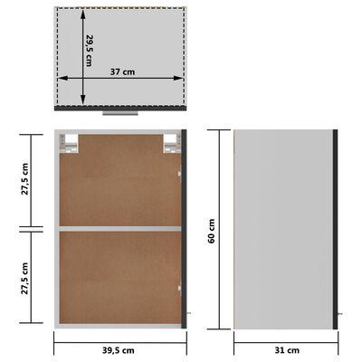 vidaXL Väggskåp svart högglans 39,5x31x60 cm spånskiva