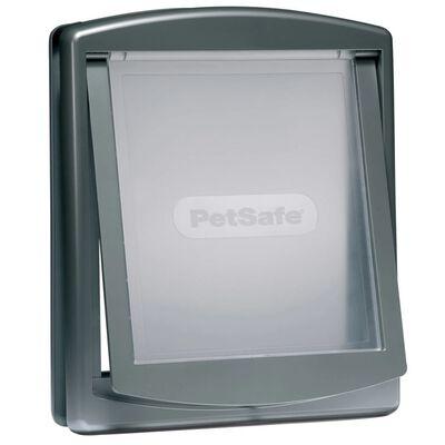 PetSafe 2-vägslucka för husdjur 777 stor 35,6x30,5 cm silver 5025