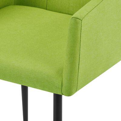 vidaXL Matstolar med armstöd 4 st grön tyg