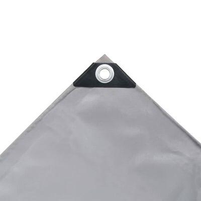 vidaXL Presenning 650 g/m² 3x5 m grå