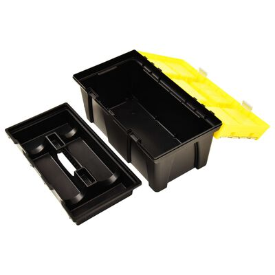 vidaXL Verktygslåda plast 595x337x316 mm gul