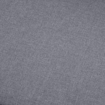 vidaXL Hörnsoffa ljusgrå tyg