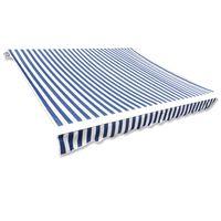 vidaXL Markisduk 6 x 3 m blå & vit (utan ram)