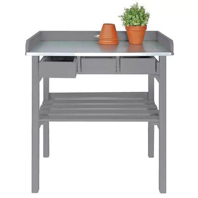 Esschert Design Planteringsbord grå CF29G