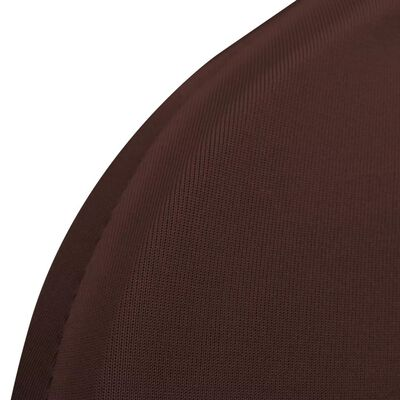 vidaXL Stolsöverdrag 4 st brun
