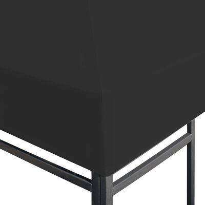 vidaXL Paviljongtak 270 g/m² 4x3 m svart