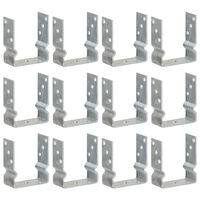 vidaXL Jordankare 12 st silver 12x6x15 cm galvaniserat stål