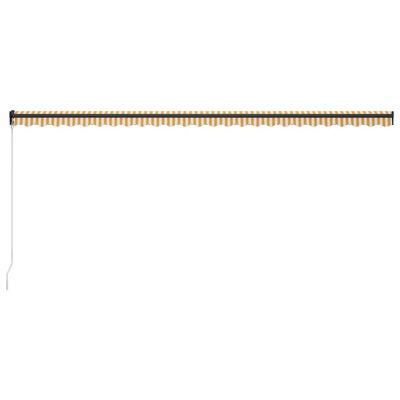 vidaXL Markis manuellt infällbar 600x300 cm gul och vit