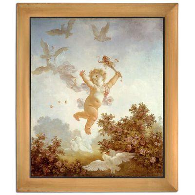 Med ram The Jester,Jean-Honore Fragonard,61x51cm