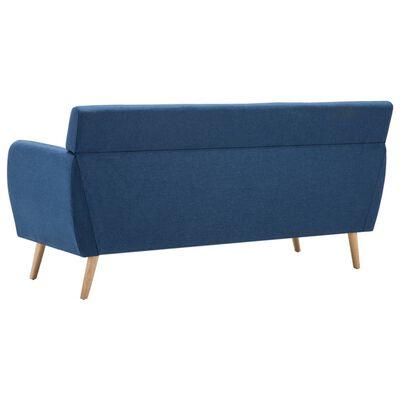 vidaXL 3-sitssoffa med tygklädsel 172x70x82 cm blå