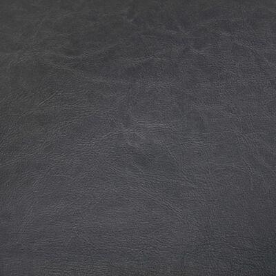 vidaXL Fåtölj med fotpall grå konstläder